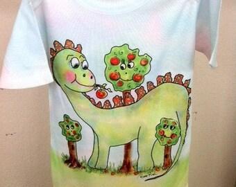 Maximillian the Dino  Onesie by Rosanna Hope for Babybonbons original art