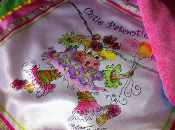 Madeleine the Circus Monkey  Luxurious MINI Baby Blanket By  Rosanna Hope forBaby Bon Bons ...Favorite Tuckie