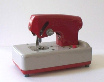 Vintage Red SEW-ETTE Sewing Machine Toy