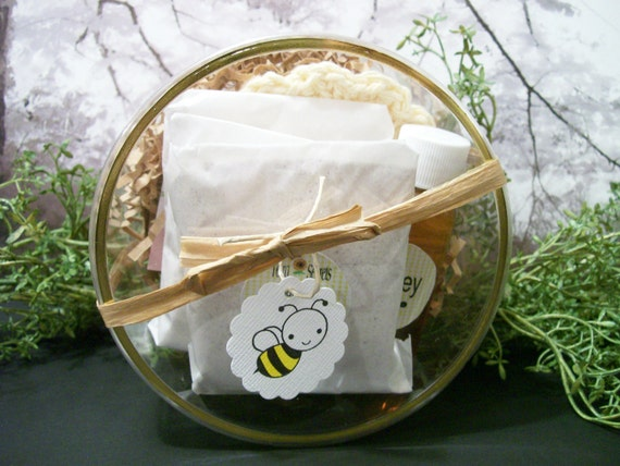 Herbal Oatmeal Facial Cleanser or Face Mask  Calendula Rose with honey