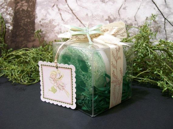 Body Powder and Loofah Soap Set Bergamot and Tarragon