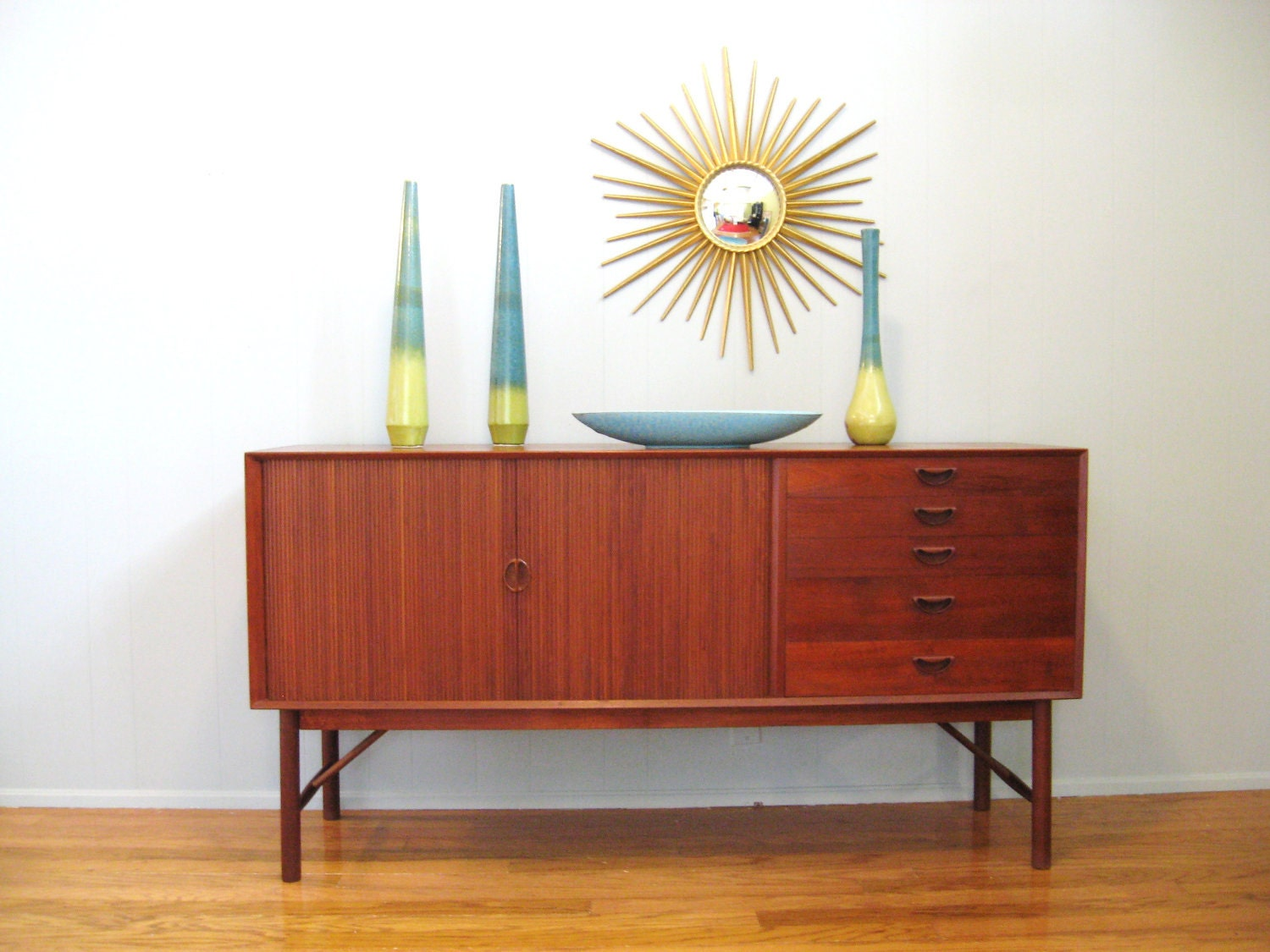 Mid century danish modern teak credenza cabinet by by for Mid century modern danish furniture
