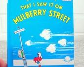 Vintage Book, Dr Seuss,1937, Mulberry Street, Hardback