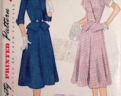 Vintage Sewing Pattern, MadMen Skirt/Blouse Suit, 1952-Ladies Size 20, Bust 38