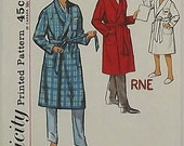 Vintage 50's Sewing Pattern, Boys Robe, Size 8, Chest 26