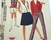Vintage 60's Sewing Pattern,Teen Separates, Size 13