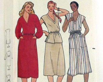 Vintage 80s Sewing Pattern, Misses Dress, Tunic & Skirt, Size 18
