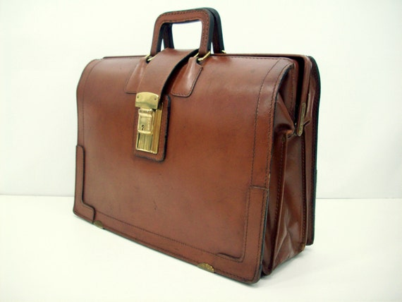 The Very Masculine Brown Vintage Leather Attache Case