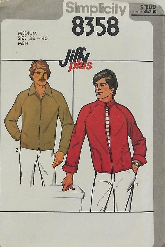 Vintage 70s Sewing Pattern, Men's Unlined Jacket, Size Medium 38-40