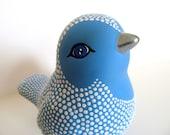 Blue Bird: Hand painted Ceramic Bird