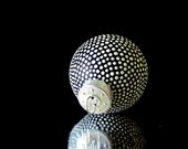 Black and White hand painted ornament