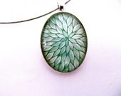 White Leaves: Hand painted Pendant