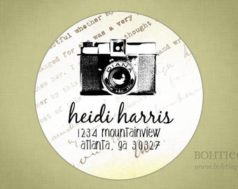 Address Label, Shop Sticker, Gift Tags - Diana Camera