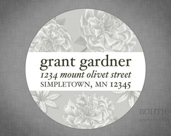 Personalized Return Address Labels - Pleasing Peonies