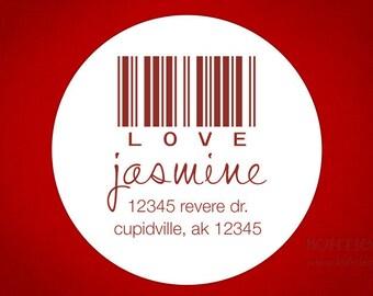 Wedding Favor Labels, Address Labels - Love Code