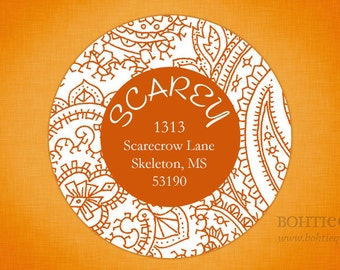 Orangey, Orange Address Labels