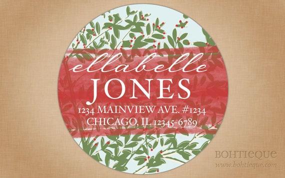 Personalized Return Address Label Sticker - Ellebelle's Forest