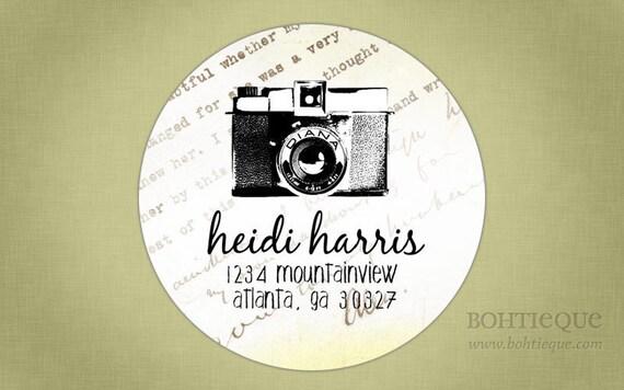 Address Label, Shop Sticker, Gift Tags - Diana Camera