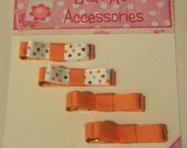 4 Pack Clippie Set-Tangerine with dots
