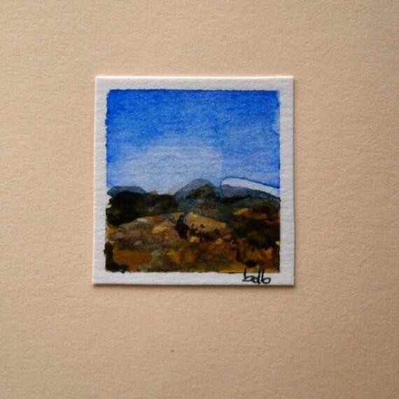 A Tuscany Landscape (No 30) - Original Mini Watercolour on paper