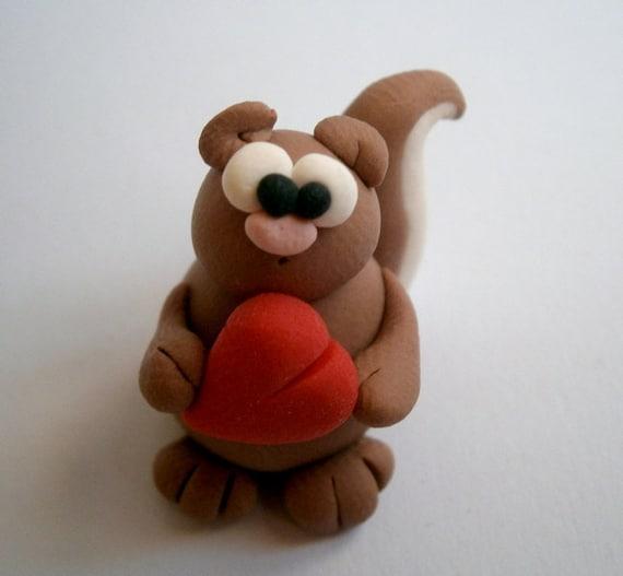 Sweet Mr. Squirrel (Signor Scoiattolo) - A Little Polymer Clay Creation  by bdbworld on Etsy - N.5