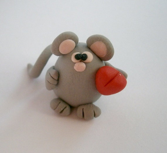 Mouse Polymer Clay Creation by bdbworld on Etsy No 31