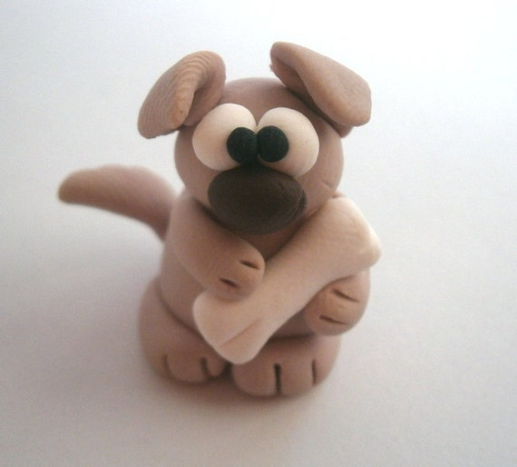 Polymer Clay Dog  by bdbworld on Etsy - No8