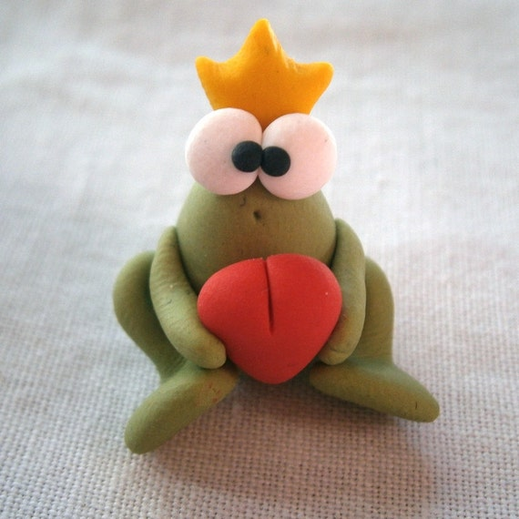 Frog Prince   A Little Polymer Clay Creation by Bdbworld on Etsy