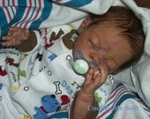 Realistic Newborn Reborn Baby Boy  -Khain by Tina Kewy-  Micro Rooted hair.  OOAK Baby Reborn doll - On Sale