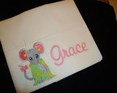 Adorable Mouse in Pajama's Custom Pillow Case