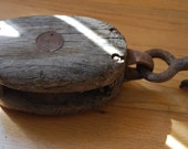 ONE Antique Barn or Boat Pulley