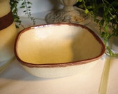 Square Speckled Brown Bowl/Candy Dish