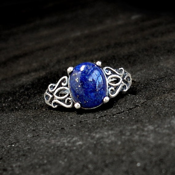 Engagement Wedding Rings With Lapis