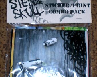 STENZSKULL STICKER / PRINT Pack