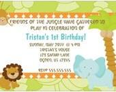 Set of 20 Safari Birthday Party Invitations