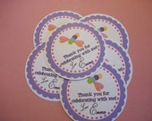 Set of 12 Dragonfly Birthday Party Favor Tags