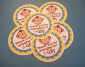 Set of 12 Monkey Birthday Party Favor Tags