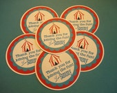 Set of 12 Carnival Circus Birthday Party Favor Tags