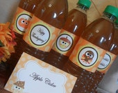 Set of 20 Water Bottle wrappers Thanksgiving Party