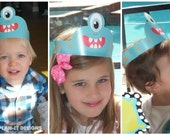 Set of 12 Monster Party Hats