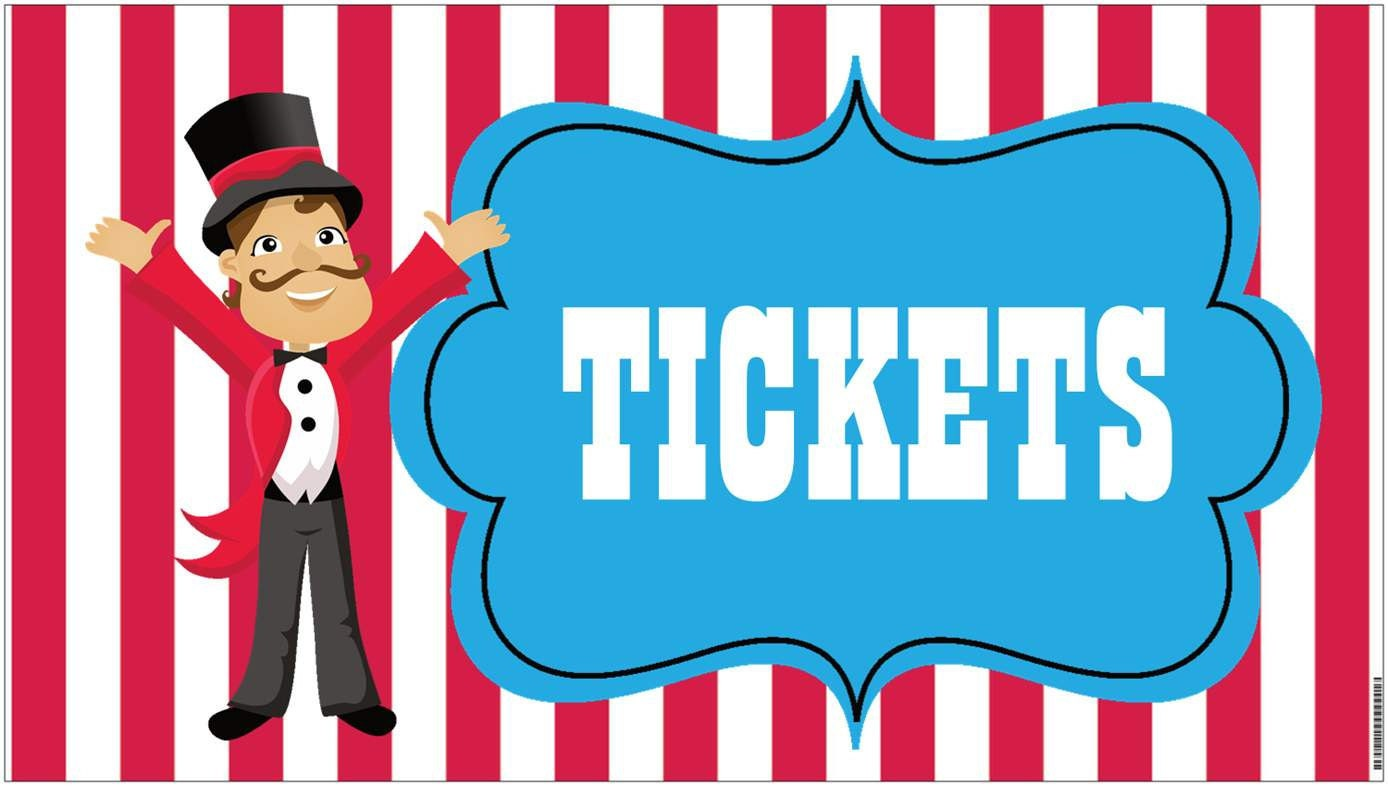 36x18 Vinyl Banner Circus Carnival Tickets by ...