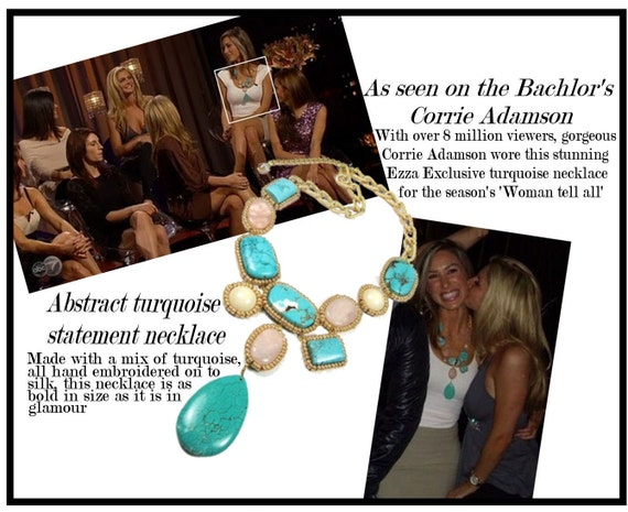 Turquoise Statement Necklace - As seen on the Bachelor