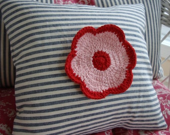 """TiCKinG and FLoWeR 12"""" PiLLoW"""