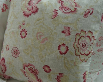 French CoTTaGe Down Pillow/ReD TOiLe/SHaBBy ChiC/Coastal/Industrial Pillow/Bedroom/Loft