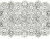 Wheel Mandalas giclee print