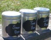 Chalkboard Labels - Set of 4 Vinyl adhesive