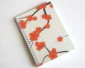 Large Coupon Organizer with 14 Pockets - Pre Printed Labels Included - Ivory Cherry Blossoms
