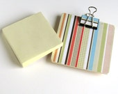Magnetic Sticky Note Holder - Fun stripes