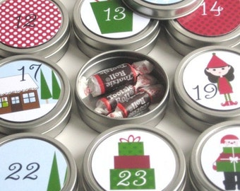 Reusable 25-day countdown to Christmas Advent Calendar