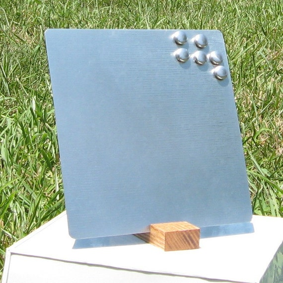 8inx8in Modern Magnet Board or Photo Frame with Simple Recycled Oak Stand